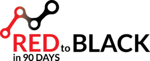 Red to Black Logo - Vertical